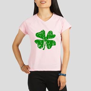 Green distressed shamrock Performance Dry T-Shirt