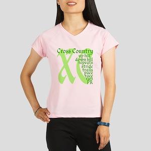 Cross Country XC green Performance Dry T-Shirt