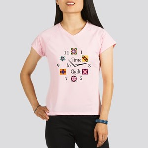 Time to Quilt Clock Performance Dry T-Shirt