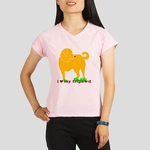 I Love My Tripawd Golden - Performance Dry T-Shirt