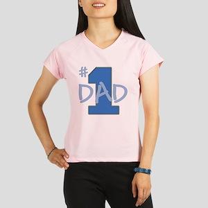 # 1 Dad blue gray Performance Dry T-Shirt