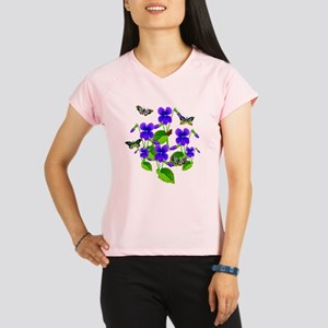 Violets and Butterflies Peformance Dry T-Shirt