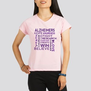 Alzheimers Support Word Cloud Performance Dry T-Sh