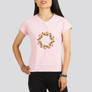 Tulips Wreath Performance Dry T-Shirt