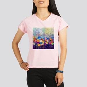 Floral Painting Performance Dry T-Shirt