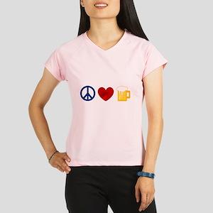 Peace Love Beer Peformance Dry T-Shirt