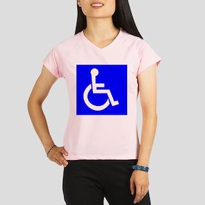 Handicap Sign Performance Dry T-Shirt