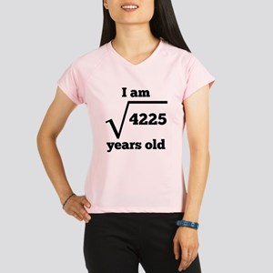 65th Birthday Square Root Performance Dry T-Shirt
