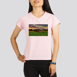 Horses Grazing Performance Dry T-Shirt
