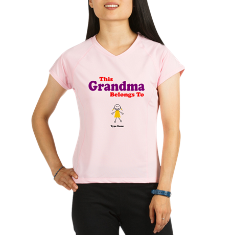 This Grandma Belongs Granddau Performance Dry T-Sh