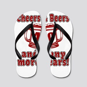 Cheers And Beers 40 And Many More Years Flip Flops