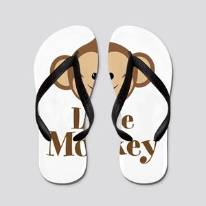 Cute Little Monkey Flip Flops