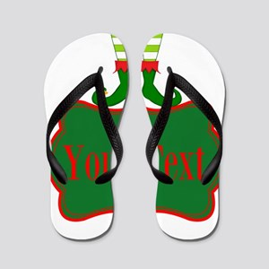 Personalizable Christmas Elf Feet Flip Flops