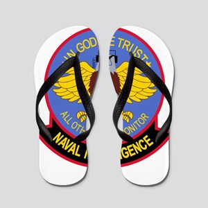 US NAVAL INTELLIGENCE Military Patch IN Flip Flops