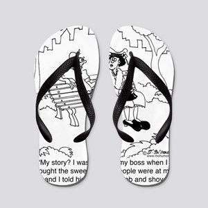 6346_employee_cartoon Flip Flops
