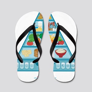 Kawaii Oishi Food Pyramid Cafe Flip Flops