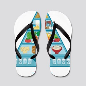 Kawaii-Oishi-Food-Pyramid-Cafe-Trans Flip Flops