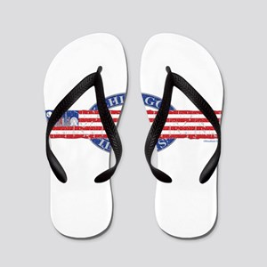 Chicago Skyline USA Flip Flops