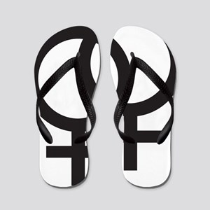 Gay Symbol - Female Flip Flops