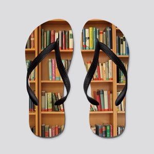 Bookshelf Books Library Bookworm Readin Flip Flops