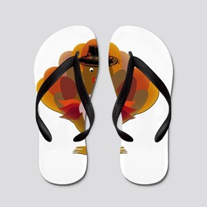 Cute Thanksgiving Turkey Flip Flops