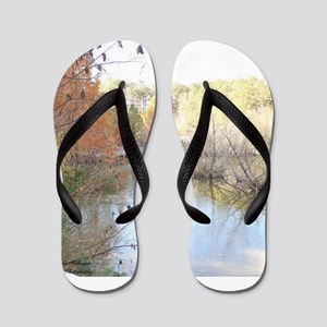 Reflections Across the Pond Flip Flops