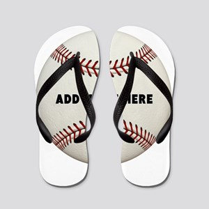 Baseball Name Customized Flip Flops