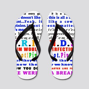 Friends Quotations Flip Flops