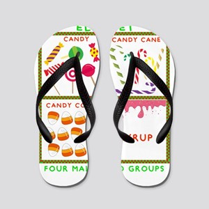 Elf Food Groups Flip Flops