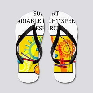 funny geek light theory gifts t-shirts Flip Flops
