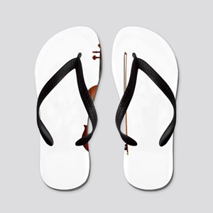 violin and bow Flip Flops