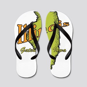 Illinois - Gateway To Iowa Flip Flops