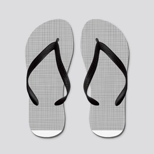 Grey Crosshatch Flip Flops