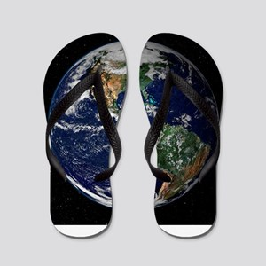 art Earth from space NASA Flip Flops