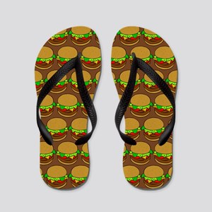 Fun Yummy Hamburger Pattern Flip Flops