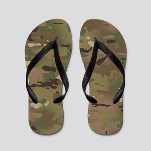 Military Camouflage Pattern Flip Flops