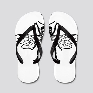 Graphic Insect Queens Entomology Scienc Flip Flops