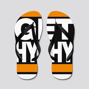 get hyphy lg orange Flip Flops