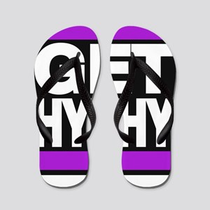 get hyphy lg purple Flip Flops