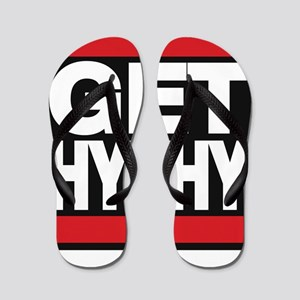 get hyphy lg red Flip Flops