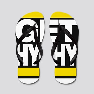 get hyphy lg yellow Flip Flops