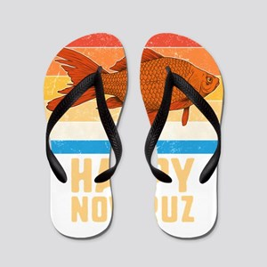 Happy Nowruz Persian New Year Goldfish Flip Flops