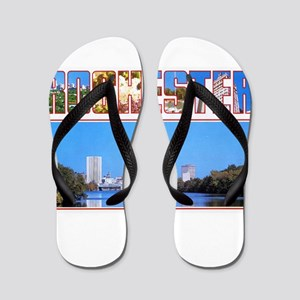 Rochester New York Greetings Flip Flops