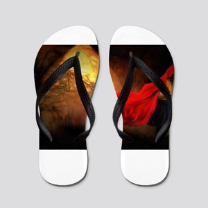 Little Red Riding Hood Story Art Flip Flops
