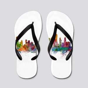 Chicago Illinois Skyline Flip Flops