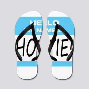 Hottie Name Tag Flip Flops