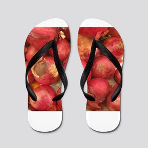 bunch of red onions Flip Flops