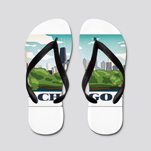Chicago, Illinois Flip Flops