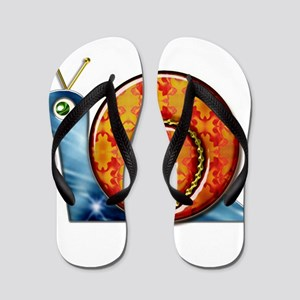 Sly Decorated Snail Flip Flops