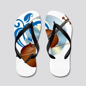 Fashion musical violin Flip Flops